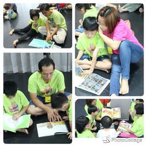 虫虫小大读书会新尝试, 分大班和小班进行亲子共读活动